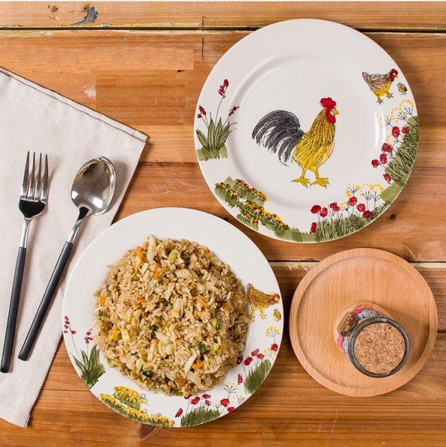 Посуда с изображением символа грядущего года