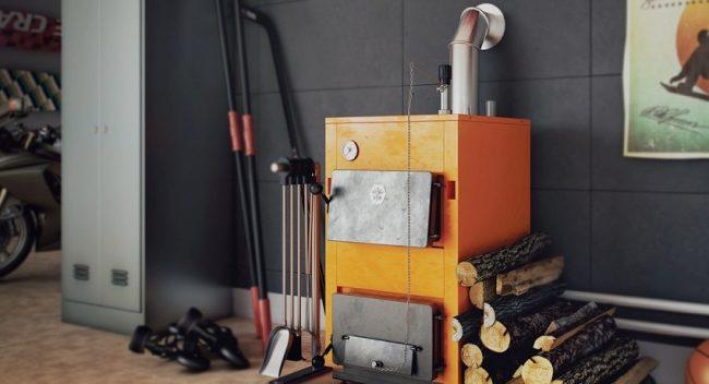 Благодаря полному сгоранию топлива не требуется регулярной очистки котла от сажи