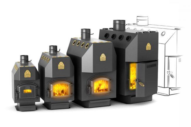 Котлы длительного горения на твердом топливе в разных размерах