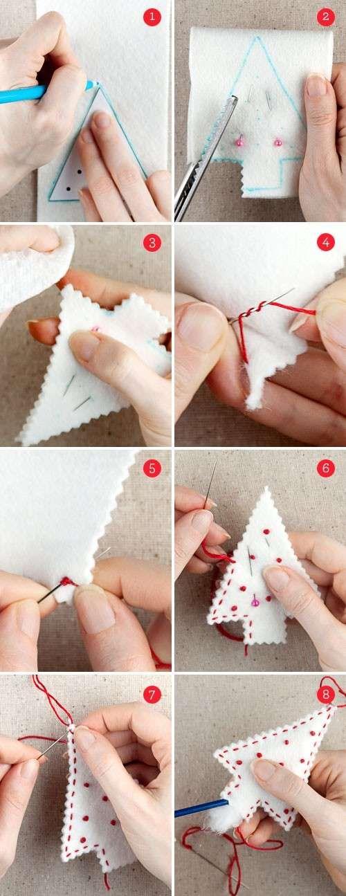 Игрушки из фетра - красивый хенд-мейд для декора елки, который можно изготовить самостоятельно