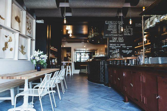 Стиль лофт в оформлении кофейни