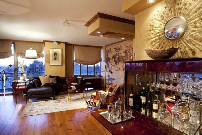 Классический мини-бар для гостиной