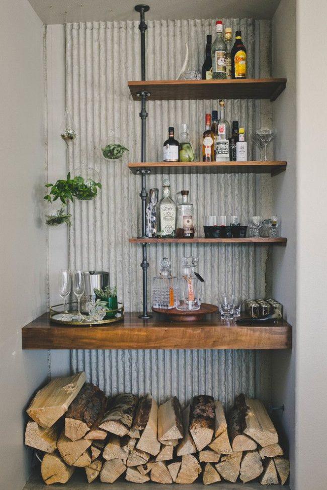 Домашний мини-бар своими руками для загородного дома
