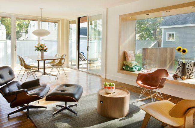 Замечательная гостиная в эко-стиле