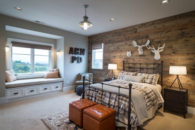 Стиль кантри в дизайне спальной комнаты