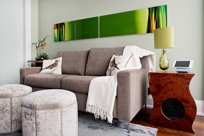 Материал обшивки дивана должен быть не только красивым, но и практичным