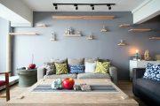 Фото 20 Прямые раскладные диваны на каждый день: 75 бескомпромиссно комфортных вариантов