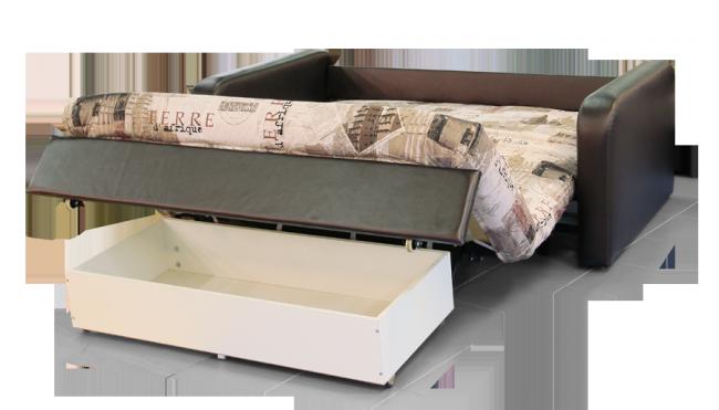 Диван раскладной с ящиками для белья поможет решить вопрос с хранением постельного белья