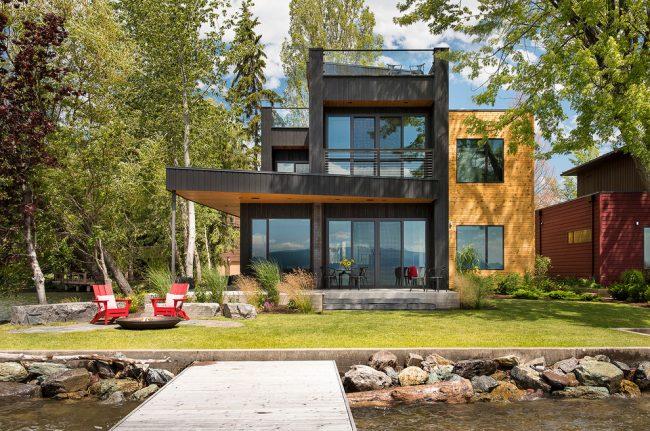 Стильный современный дом модульного типа