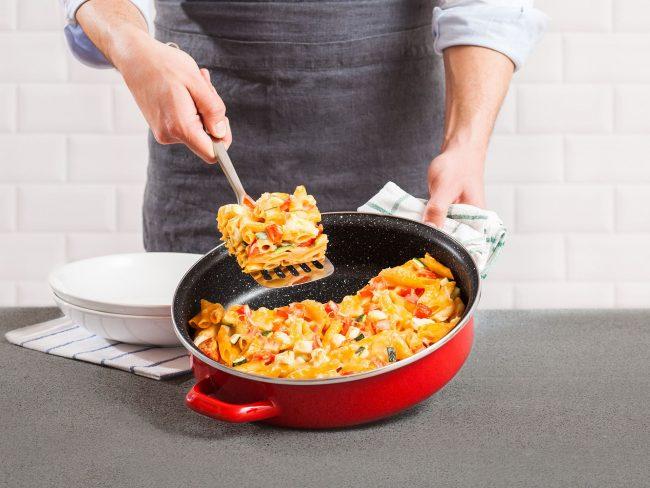 Идеальная запеканка, приготовленная в сковороде с каменным покрытием