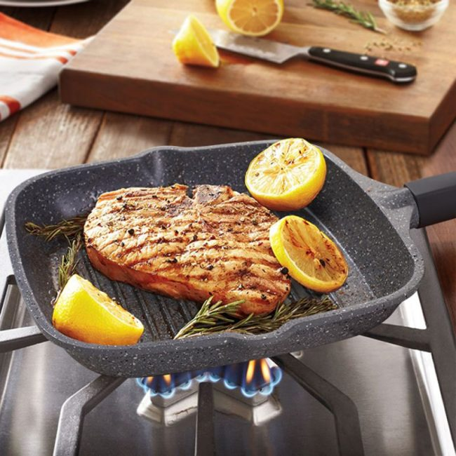 Сковорода-гриль с каменным покрытием