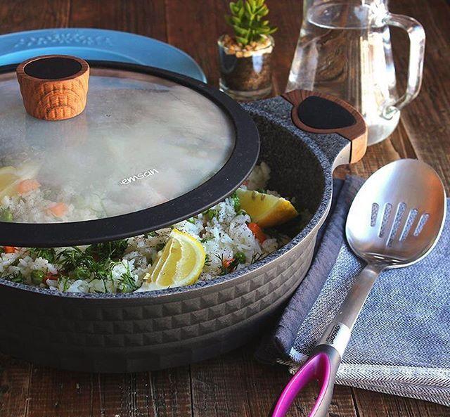 Пища, приготовленная в сковороде с каменным покрытием является полезной и вкусной