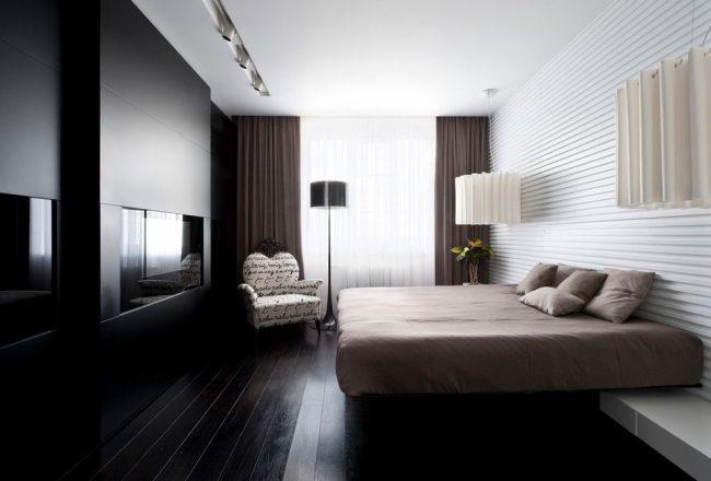 Стильная минималистичная спальня в стиле контемпорари