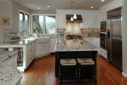 Фото 20 Угловая тумба под мойку на кухню: размеры, виды и 70 вариантов удобного размещения