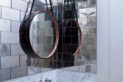 Фото 2 Зеркальная плитка в интерьере (105+ фото): как использовать глянцевые акценты и обзор лучших сочетаний