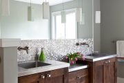 Фото 22 Зеркальная плитка в интерьере (105+ фото): как использовать глянцевые акценты и обзор лучших сочетаний