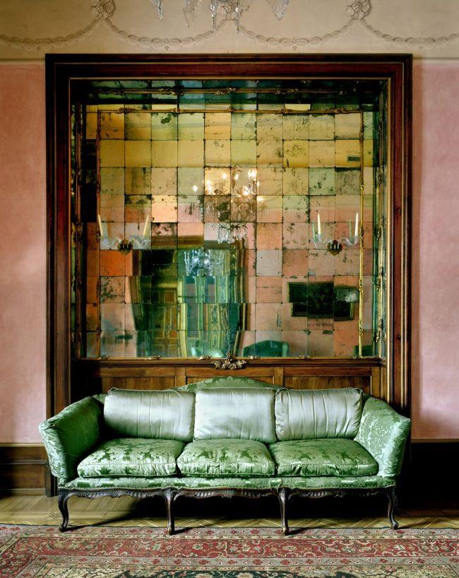 Зеркальная плитка в интерьере стиля бохо