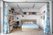 Фото 1 Зонирование шторами: 80 лучших идей для рационального использования пространства