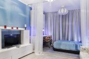 Фото 8 Зонирование шторами: 80 лучших идей для рационального использования пространства