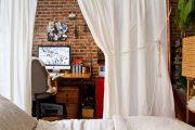 Фото 15 Зонирование шторами: 80 лучших идей для рационального использования пространства