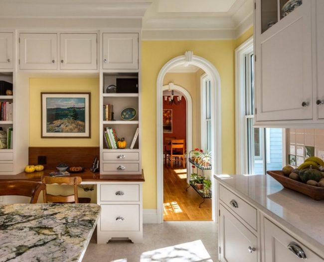 Арка стандартного размера на маленькой кухне