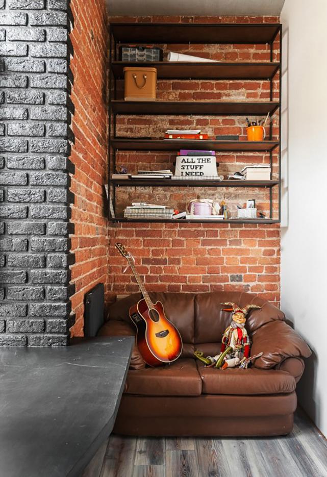 Стильное сочетание оттенков в отделке стен