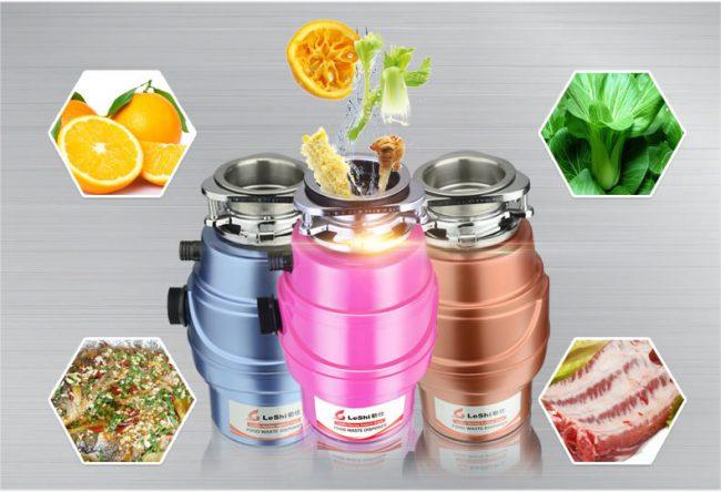 Диспоузер способен измельчить 95% пищевых отходов, куда входят остатки овощей и фруктов, а так же рыбных и куриных костей