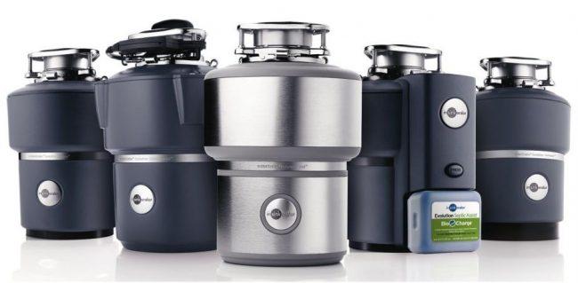 Модельный ряд измельчителей для пищевых отходов фирмы In Sink Erator