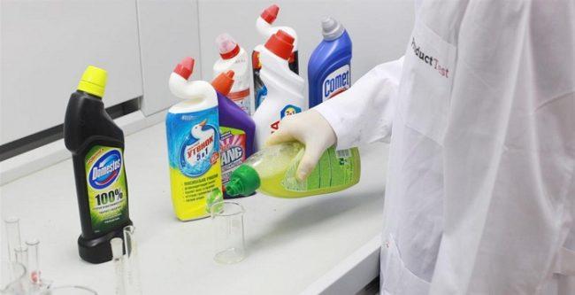 Обязательно соблюдайте меры предосторожности при работе с химией