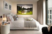 Фото 41 Картины в спальню над кроватью: размещение по фен-шуй и 70+ универсальных сюжетов