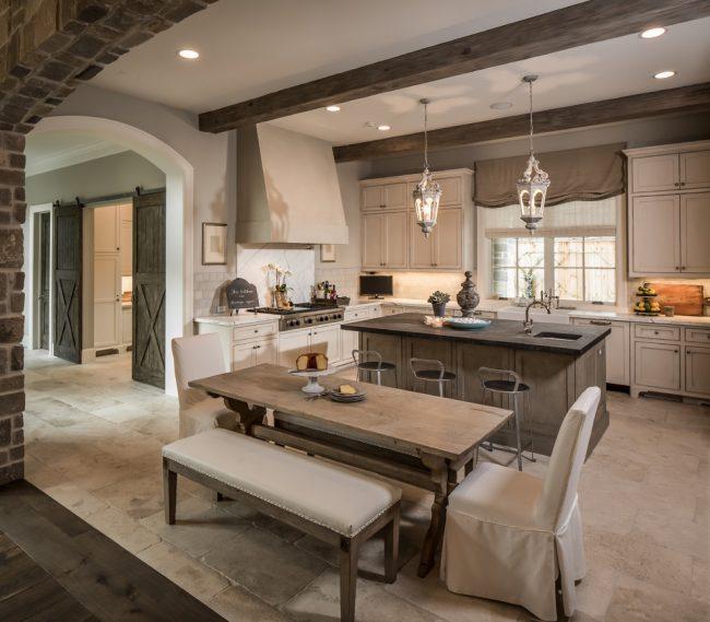 Легкий и воздушный интерьер кухни в стиле прованс