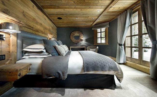 Уютная спальня в дереве с отличной шумо- и теплоизоляцией