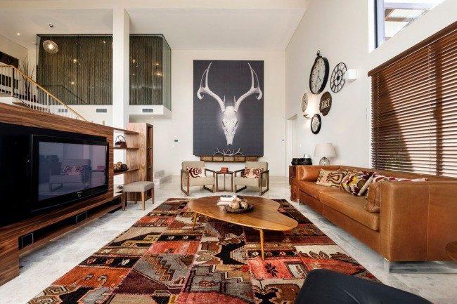 Миланский орех - цвет мебели и оформление гостиной в ореховых тонах