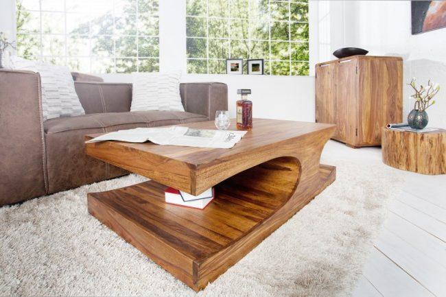 Оригинальная мебель для гостиной из миланского ореха