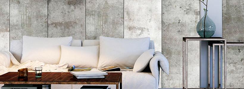 Обои под бетон: очарование лофта в интерьере современной квартиры