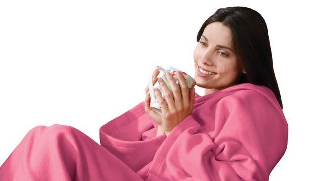 """Плед Snuggie из коллекции """"Уютная зима"""" в розовом цвете"""