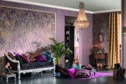 Фото 23 Королевский пурпурный и роскошный «ultra violet»: 75+ идей элегантного дизайна с сиреневыми обоями
