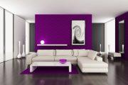 Фото 24 Королевский пурпурный и роскошный «ultra violet»: 75+ идей элегантного дизайна с сиреневыми обоями