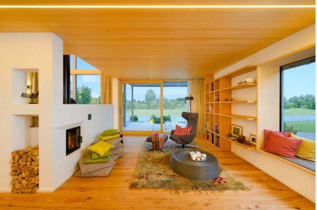 Деревянная отделка дома в скандинавском стиле