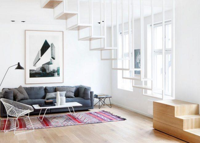 """Скандинавский стиль способен преобразить даже такую """"скучную"""" деталь дома, как лестница"""