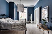 Фото 37 Спальня в синем цвете: как создать уютный и теплый интерьер в холодной гамме