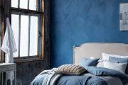 Фото 30 Спальня в синем цвете: как создать уютный и теплый интерьер в холодной гамме