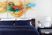 Фото 25 Спальня в синем цвете: как создать уютный и теплый интерьер в холодной гамме