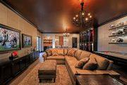 Фото 34 Темный потолок в интерьере: 80 роскошных и строгих дизайнерских вариантов