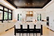 Фото 59 Темный потолок в интерьере: 80 роскошных и строгих дизайнерских вариантов