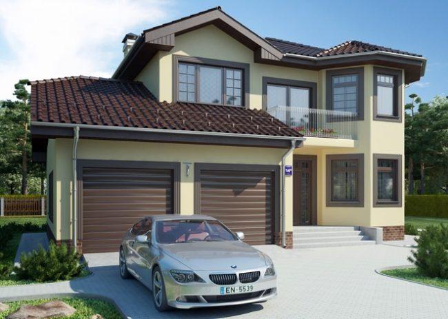 Проект дома с 2 гаражами