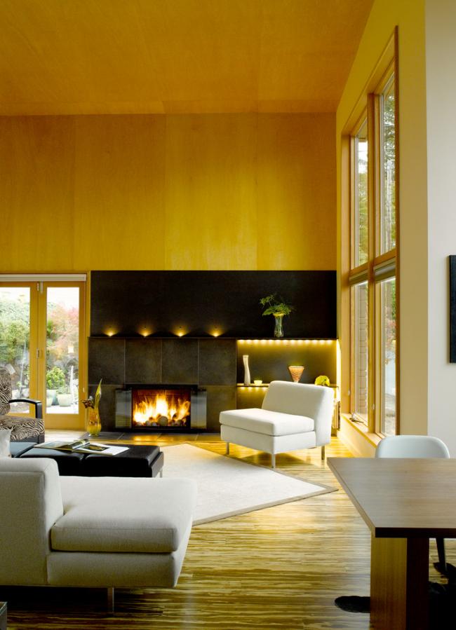 Декоративные стеновые панели из дерева обеспечивают стенам идеальную гладкость и скрывают неровности