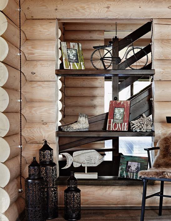 Отделка стен блок-хаусом позволит добиться большего объема и текстуры в интерьере