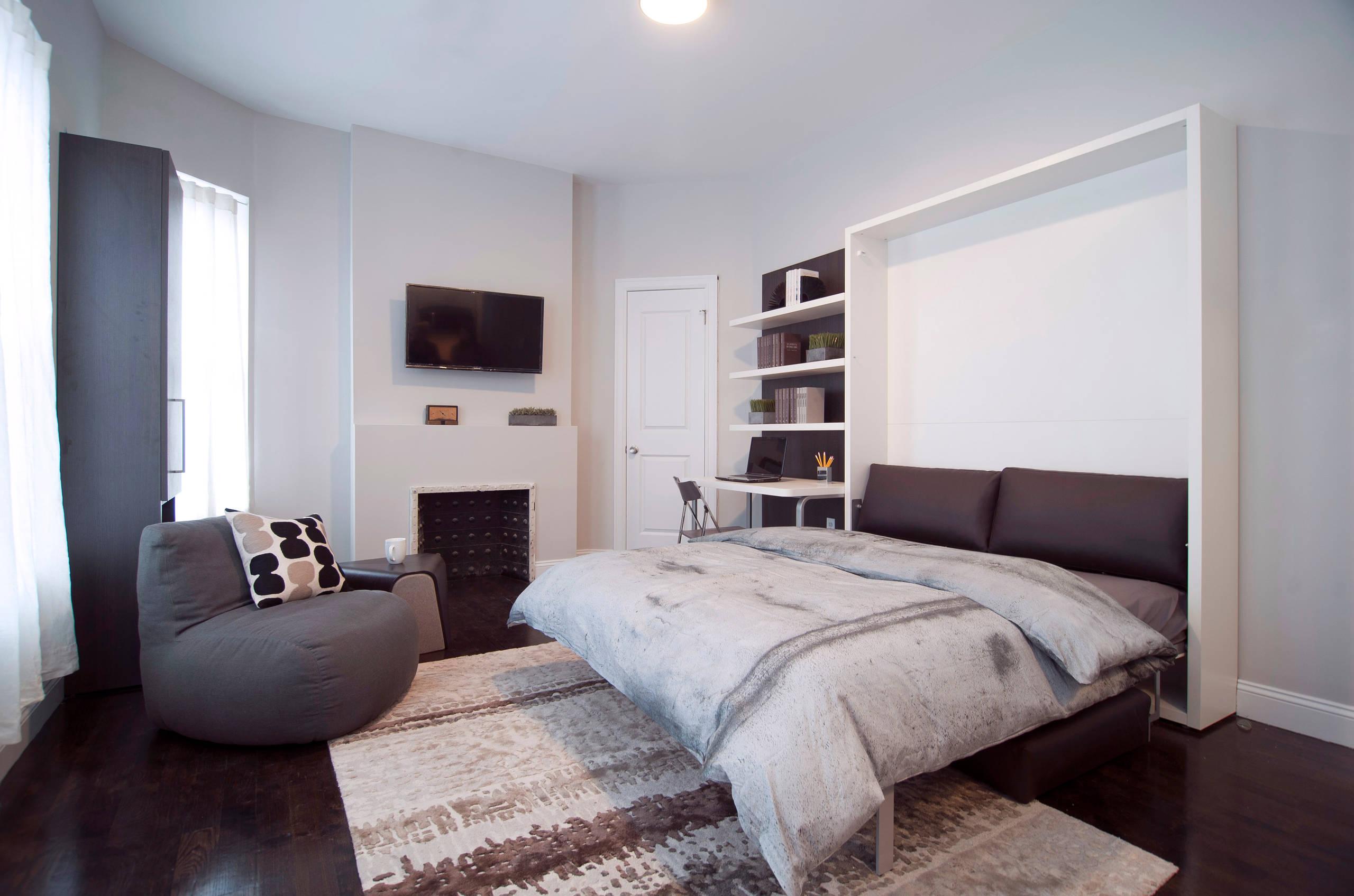 Дизайн комнаты спальни - гостиной
