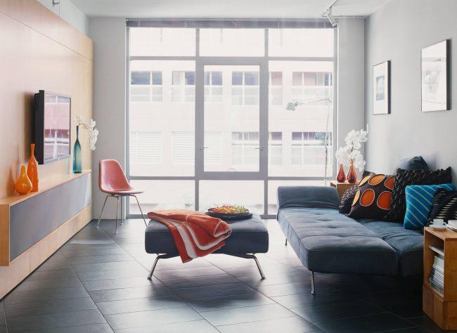 Спальня-гостиная 18 кв. м. в стиле модерн
